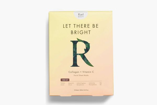 Rael Let There Be Bright Collagen & Vitamin C Facial Sheet Masks