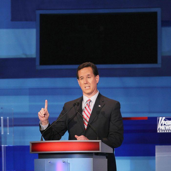 SIOUX CITY, IA - DECEMBER 15: Republican presidential candidate former U.S. Senator Rick Santorum (R-PA).