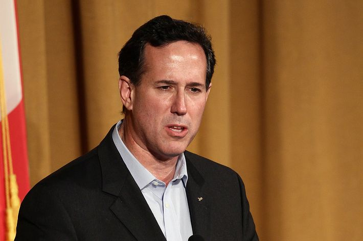 Republican presidential candidate, former U.S. Sen. Rick Santorum speaks at the Alabama Republican Presidential Forum March 12, 2002 in Birmingham, Alabama. Alabama and Mississippi hold their primaries tomorrow.
