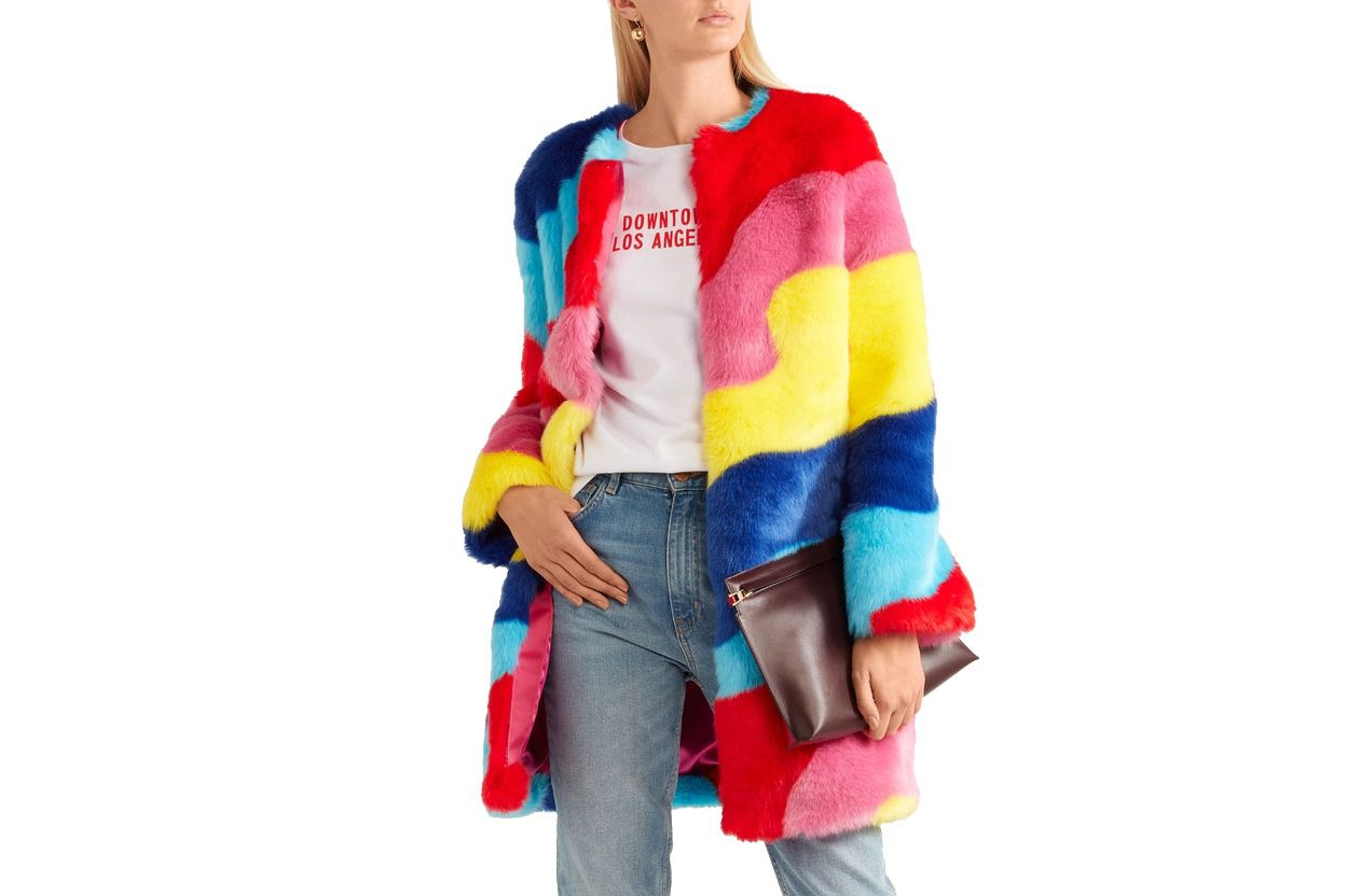 Mira Mikati Rainbow Wave Coat