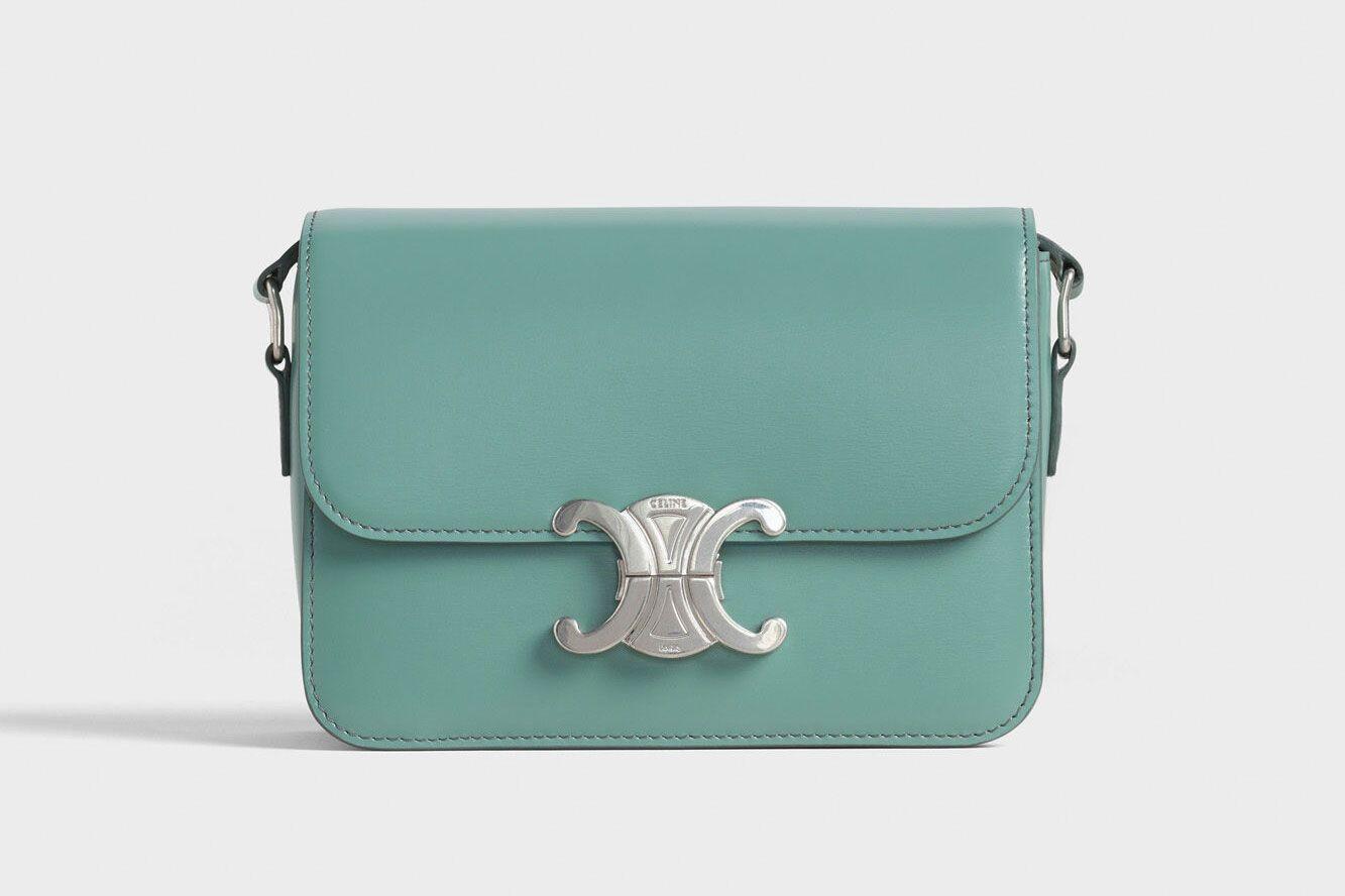 Celine Teen Triomphe Bag In Shiny Calfskin