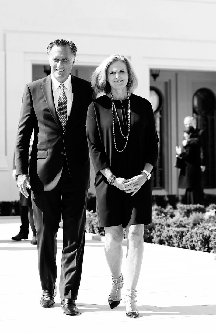 Mitt and Ann Romney.