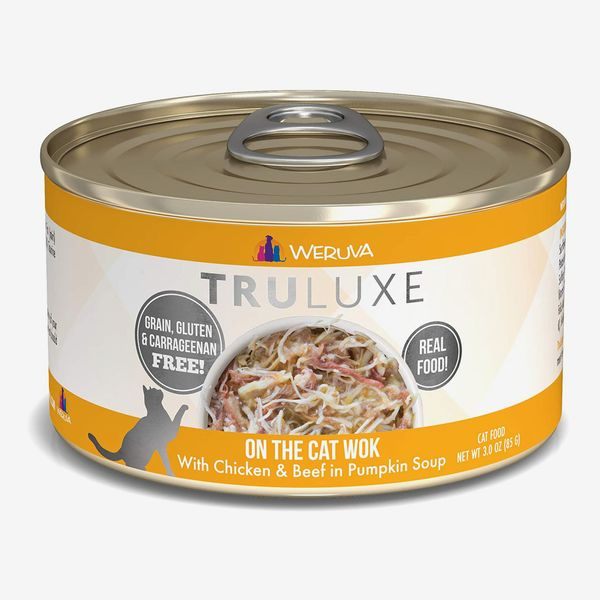 Weruva Truluxe On The Cat Wok with Chicken & Beef in Pumpkin Soup Grain-Free Canned Cat Food 3-oz., 24-Count