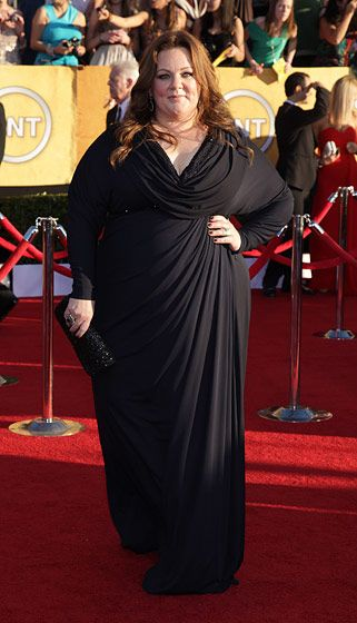 Celebrities arriving at the Screen Actors Guild Awards 2012 held at the Shrine Auditorium in Los Angeles, CA. <P> Pictured: Melissa McCarthy <P><B>Ref: SPL355281  290112  </B><BR/> Picture by: Nate Beckett / Splash News<BR/> </P><P> <B>Splash News and Pictures</B><BR/> Los Angeles:310-821-2666<BR/> New York:212-619-2666<BR/> London:870-934-2666<BR/> photodesk@splashnews.com<BR/> </P>