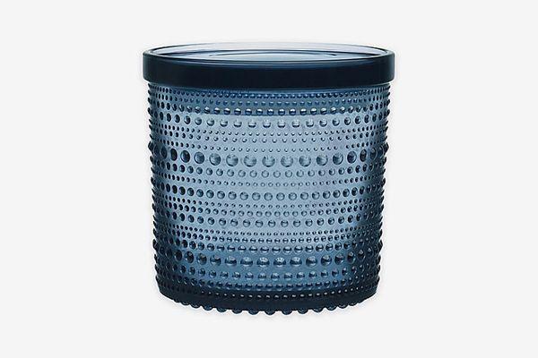 Iittala Kastehelmi Large Jar With Lid in Rain