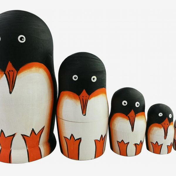 Wooden Penguin Russian Dolls
