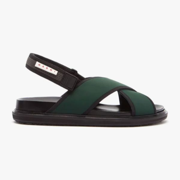 Marni Fussbett Crossover-Strap Technical Sandals