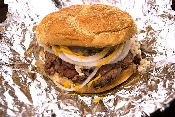 "<a href=""http://chapspitbeef.com/"">Chaps Charcoal Restaurant</a><br><i>5801 Pulaski Hwy.; 410-483-2379</i> <br>Speaking of not caring what others say, local food writer and photographer John Houser III explains that Baltimore is also home to the relatively unknown strain of barbecue called pit beef. ""Pit beef is a good representation of the native Baltimorean,"" he says, ""Tough and craggy on the outside, but soft and vulnerable underneath."" Beef top round is dry rubbed and cooked quickly over charcoal until rare inside. Then the meat is thinly sliced and placed in rolls with raw onions and horseradish sauce or yellow mustard. ""The best,"" says Houser, is at Chaps Charcoal Restaurant. ​"