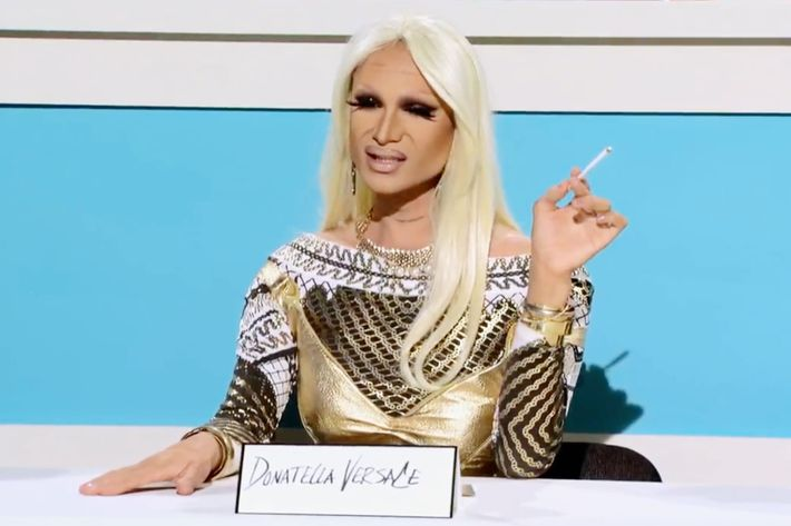 62. Miss Fame as Donatella Versace (Season 7)