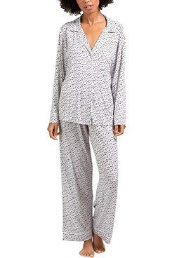 Eberjey Gisele Printed Long Pajama Set