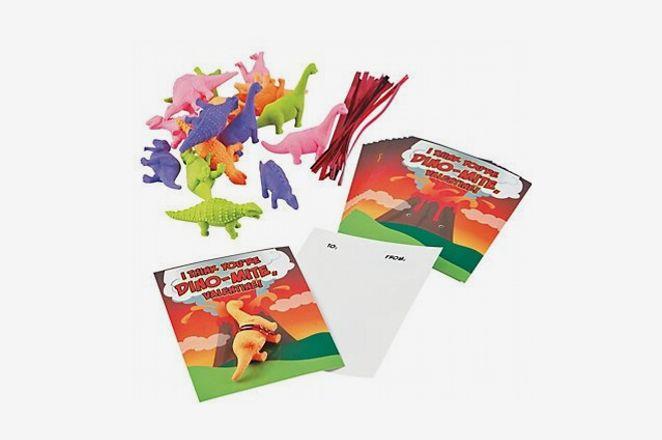 Dino-Mite Eraser Valentine Cards