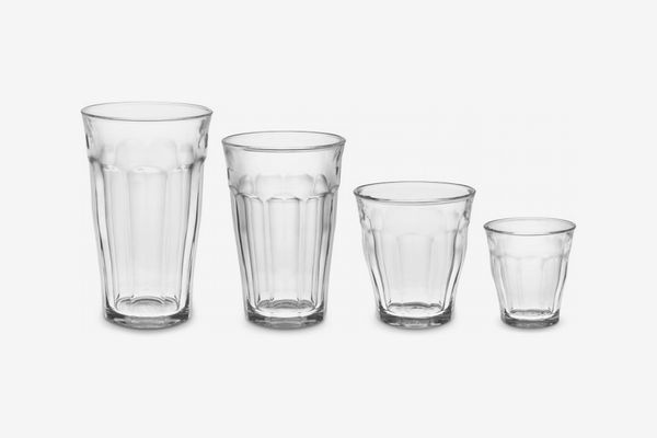 Duralex Picardie Glass Tumblers, Assorted Sizes (Set of 24)