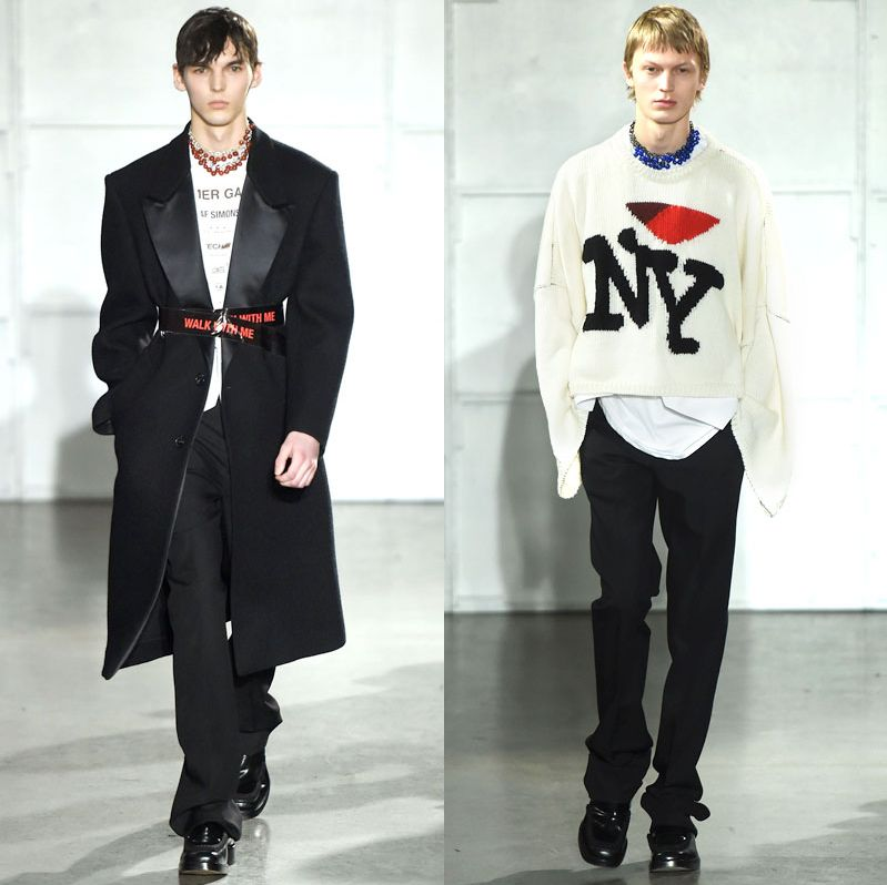 f78a646c2656a Raf Simons's Men's Show Was a Little Love Note to New York