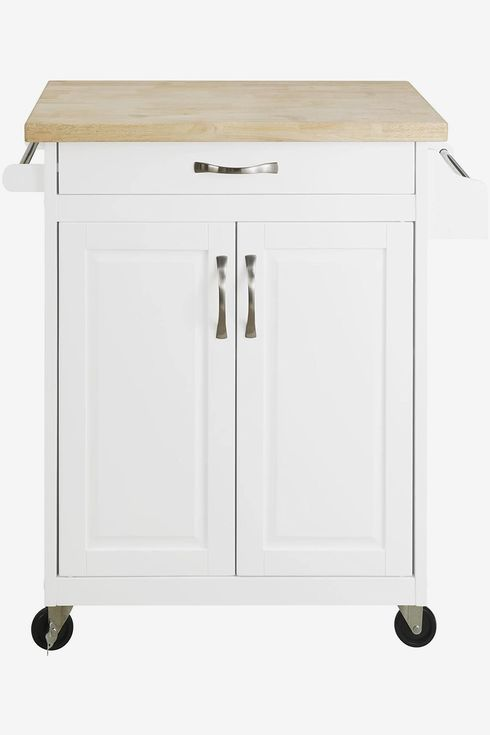 Rolling Wheels And Portable Cabinet Organization For Home Apartment Essentials Clickdecor Anson Kitchen Island Bar Cart With Storage Gray Butcher Block Table Home Kitchen Furniture
