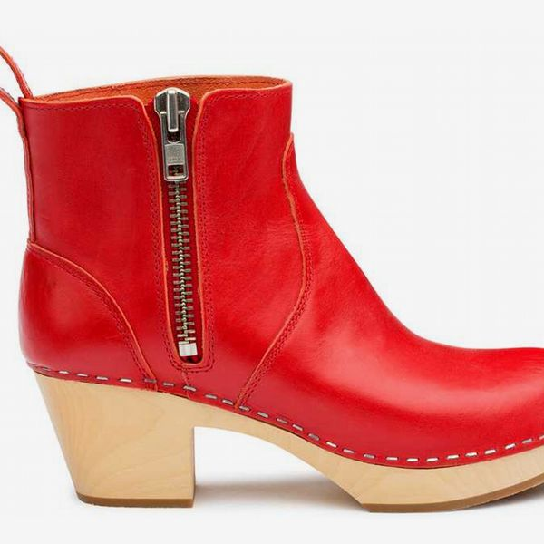 Zip It Emy in Red - strategist best Red zip it high heel boot with buckle strap