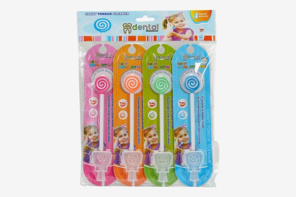 55Dental Kids Tongue Cleaner With Smiley Cover