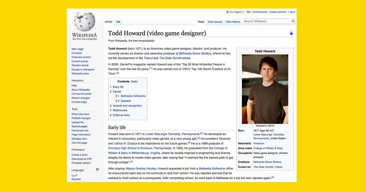 813ff4cbefb Why Todd Howard s Wikipedia Article Keeps Getting Vandalized