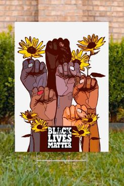 Mosaic Pop Art Black Lives Matter Art Yard Sign 24 x 18 Inches