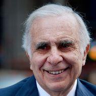 Carl Icahn, billionaire investor and chairman of Icahn Enterprises Holdings LP, stands outside of the Nasdaq MarketSite in New York, U.S., on Tuesday, March 27, 2012. Icahn announced his intention last month to offer $30 a share and give CVR Energy Inc. holders a right to as much as an additional $7 a share, a proposal that values the company at at least $2.6 billion, according to Bloomberg via Getty Images calculations.