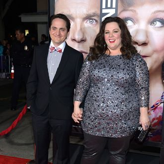 Actor Ben Falcone and actress Melissa McCarthy attend the Premiere Of Universal Pictures'