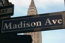 A general view of the Madison Avenue street sign on April 17, 2012 in New York City.
