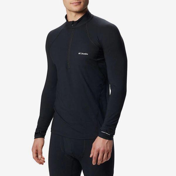 Columbia Men's Midweight Stretch Long Sleeve Baselayer Half Zip Shirt