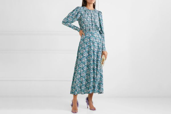 Rotate Birger Christensen Open-Back Floral-Print Midi Dress