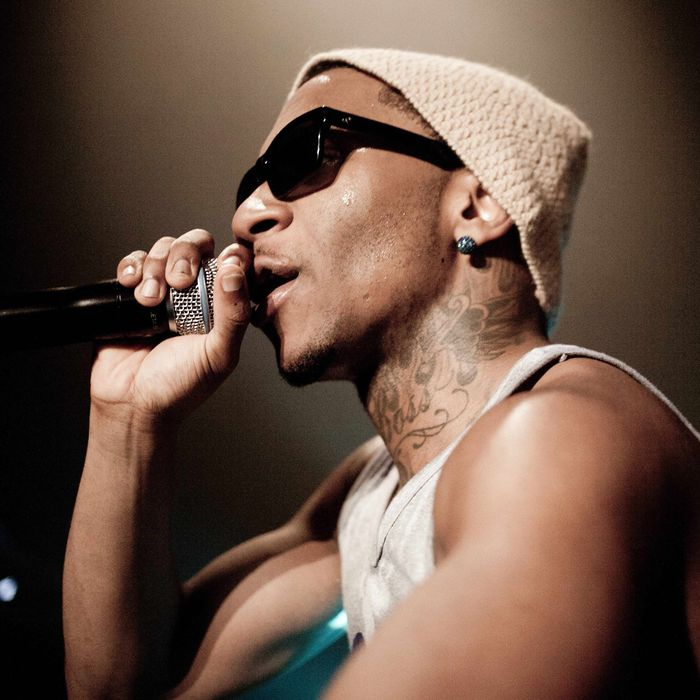 Brandon McCartney, Lil B or as 'The Based God'. Click Festival in Denmark 2012.