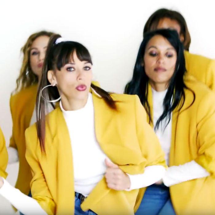 Rashida Jones in the video for