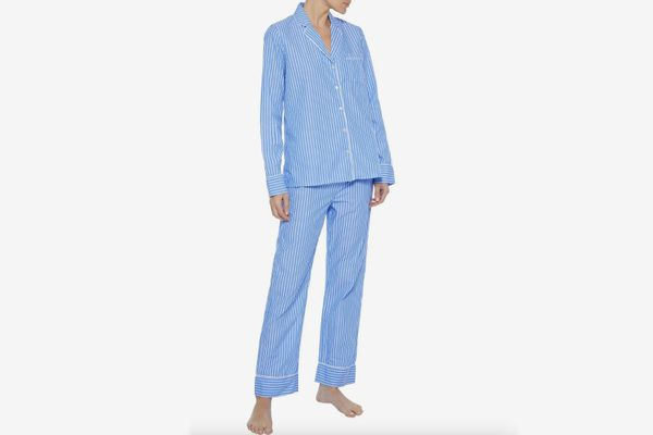Iris & Ink Karly Striped Cotton Pajama Set