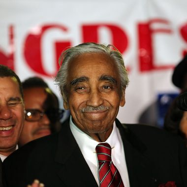 NEW YORK, NY - JUNE 26:  Congressman Charles Rangel speaks after declaring himself the winner in the race for the Democratic primary challenge in New York's 15th congressional district on June 26, 2012 in New York City. After a more than four-decades-long congressional career, Rangel fought for the Democratic nomination in a newly re-drawn congressional district that is no longer dominated by African Americans. The 82-year-old Rangel was locked in a race Tuesday for the nomination in his Harlem-area district with New York state Sen. Adriano Espaillat. Espaillat, a 57-year-old Dominican-American, showed growing popularity in a district that now has more Latino-Americans than African-Americans.  (Photo by Spencer Platt/Getty Images)