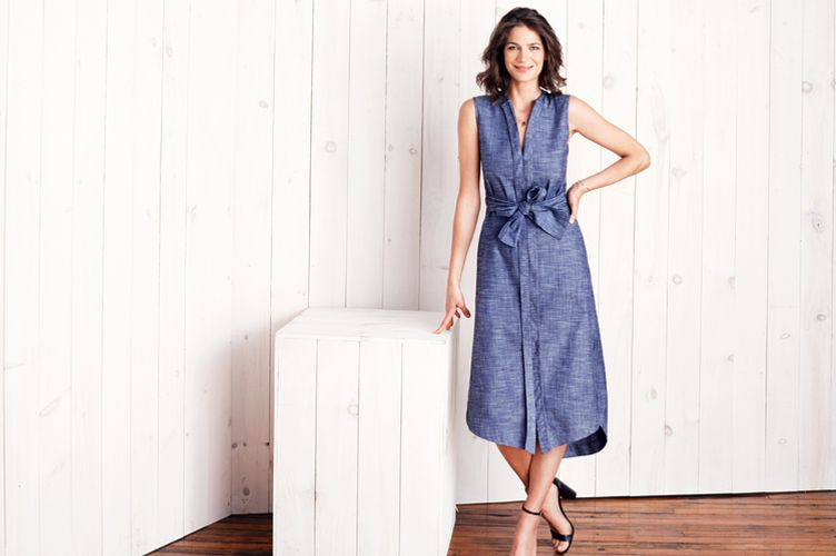Ajaie Ajaie Chambray On Repeat Shirt Dress