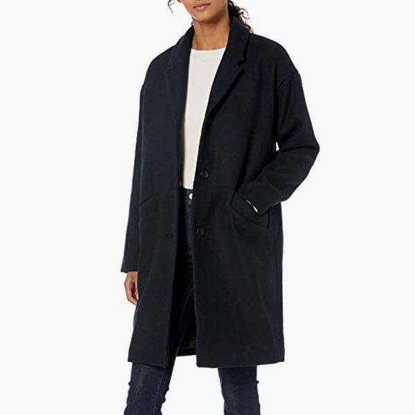 Daily Ritual Oversized Wool Blend Cocoon Coat