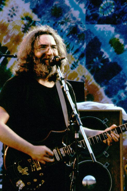 Jerry Garcia with the Grateful Dead perform at the Greek Theater in Berkeley, California on July 15, 1984.