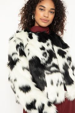 Eloquii Crop Fur Jacket