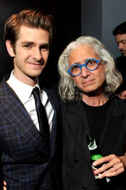 NEW YORK, NY - JUNE 26:  Actor Andrew Garfield and Dr. Jane Aronson attend the WWO cocktail honoring Dr. Jane Aronson at The Royalton Hotel on June 26, 2012 in New York City.  (Photo by Stephen Lovekin/Getty Images for Worldwide Orphans Foundation)