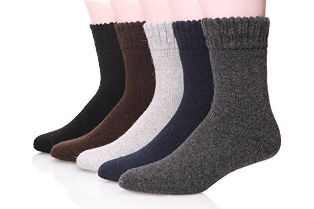 Ebmore Men's Heavy Winter Socks Five-Pack