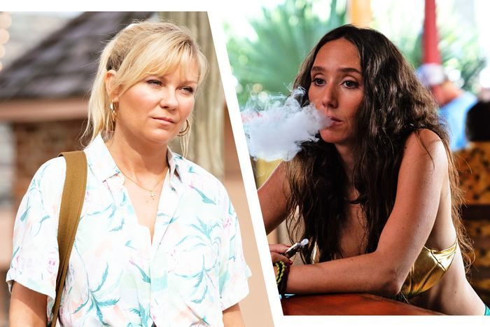 Kirsten Dunst in On Becoming a God in Central Florida and Patty Guggenheim in Florida Girls.