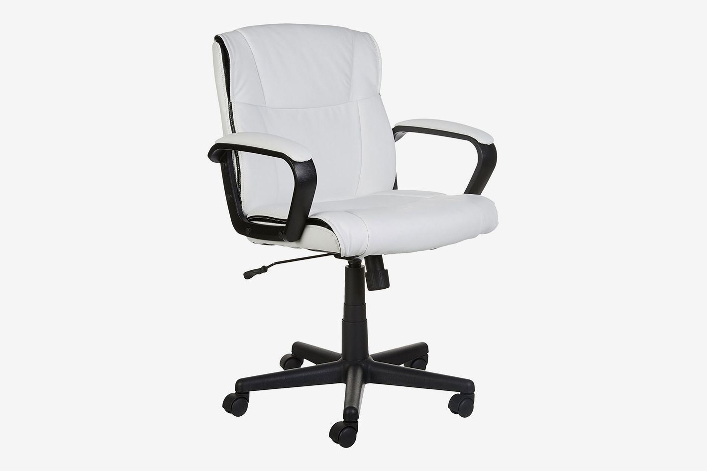 Office Chair Armrest AmazonBasics Mid-Back Office Chair, White at Amazon