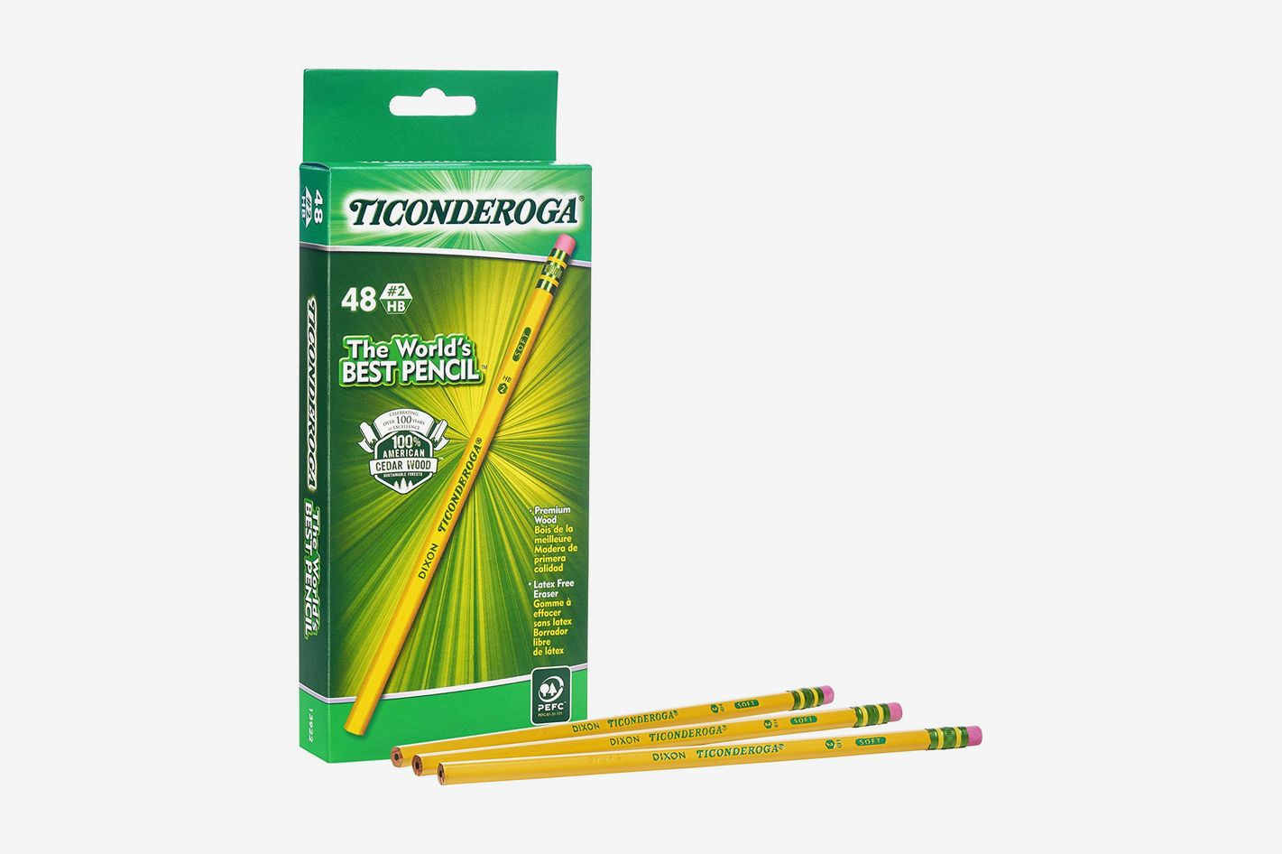 Dixon Ticonderoga Wood-Cased Graphite Pencils, 48-Count