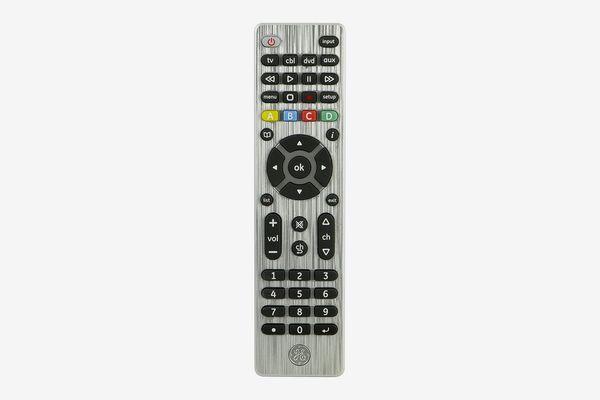 GE 33709 4-Device Universal Remote Control, Designer Series, Brushed Nickel
