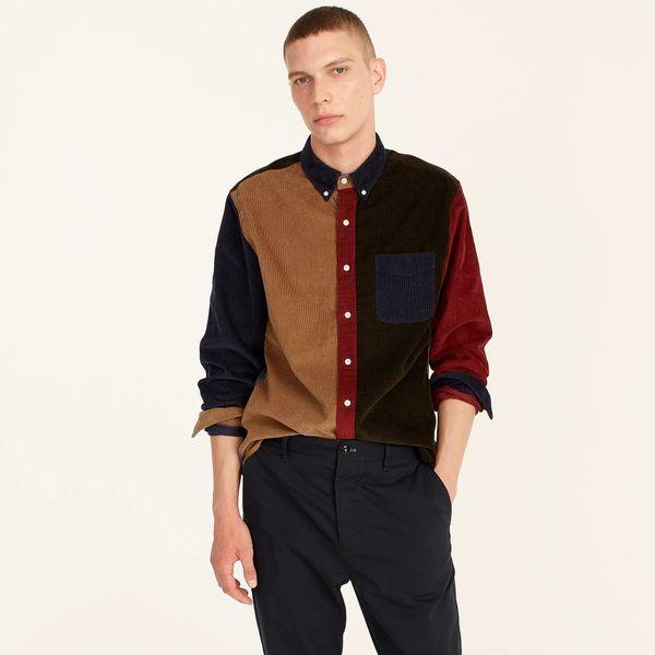 Corduroy Shirt in Colorblock