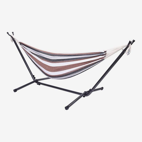 Havenside Home Shella 2-person Portable Garden Swing Hammock with Stand