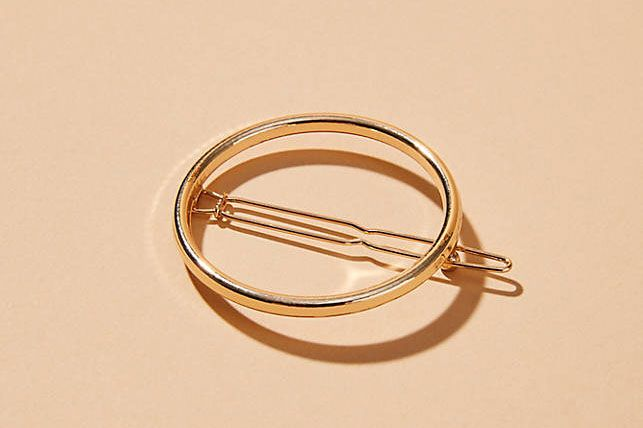 Machete Small Golden Circle Hair Clip