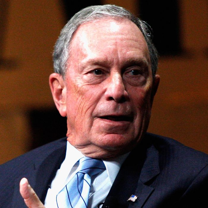 SAN FRANCISCO, CA - OCTOBER 08: Bloomberg LP Founder Michael Bloomberg speaks onstage during