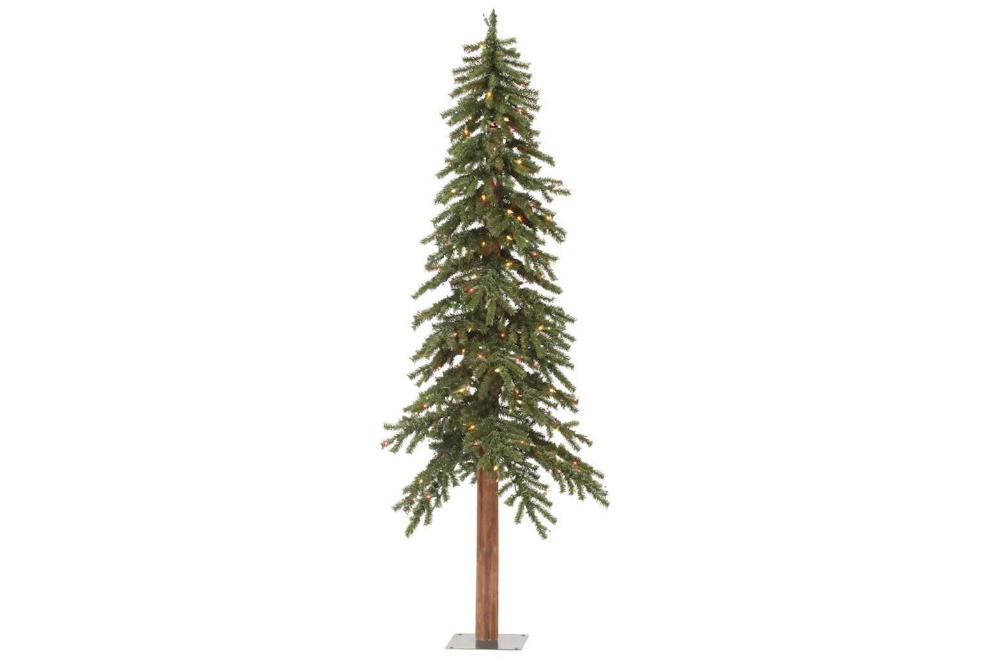 Vickerman Pre-Lit Natural Alpine Tree With 150 Multicolored Dura-Lit Lights, 5-Feet
