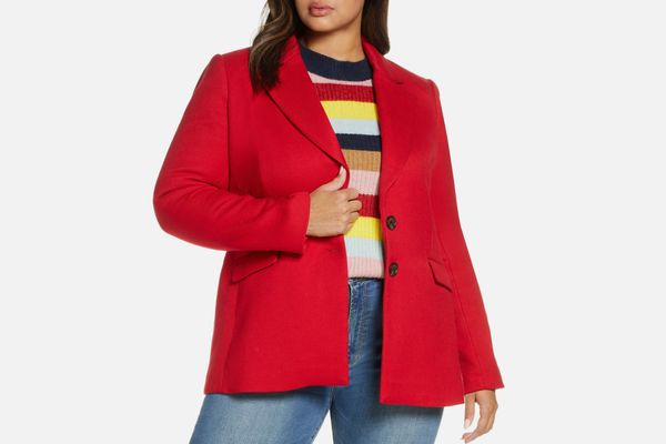Halogen x Atlantic-Pacific Fitted Blazer