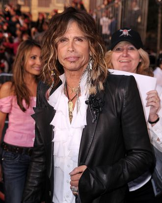 ANAHEIM, CA - MAY 07: Musician Steven Tyler arrives at premiere of Walt Disney Pictures'