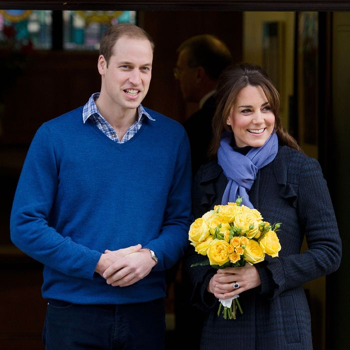 The last Kate Middleton pregnancy outfit we'll see in a while.