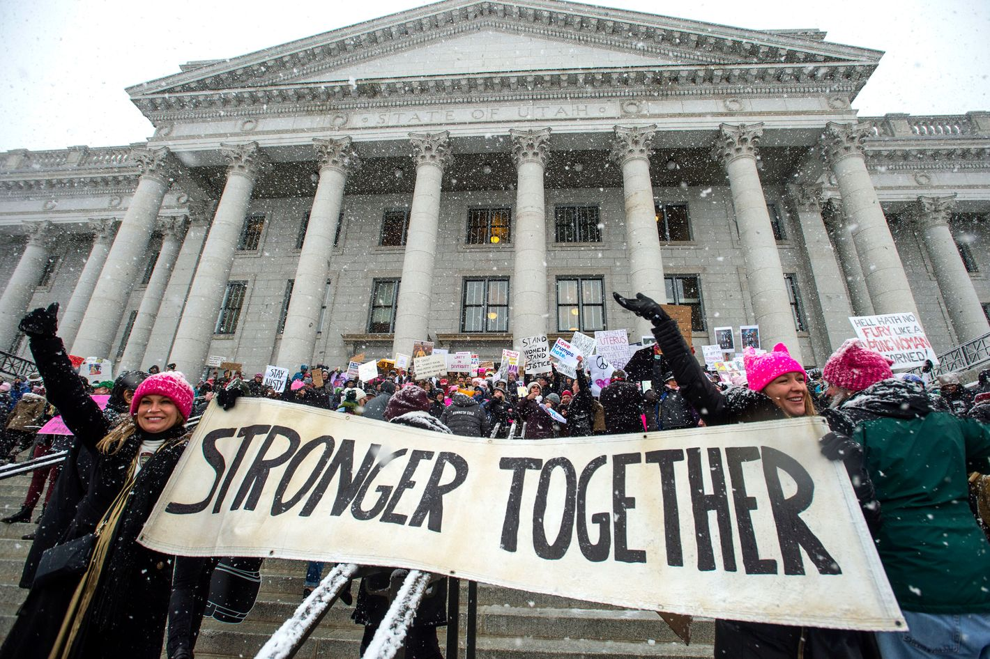 Thousands of Women Marched on the Utah Capitol Building